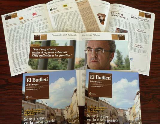 Diversos números del Butlletí municipal de les Borges